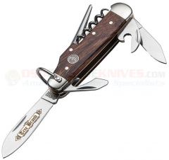 Boker Classic Gold Camp Knife Pocketknife (3.5 Inch Closed) Desert Ironwood Handle + Slip Pouch 114051