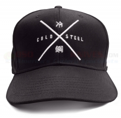 Cold Steel Embroidered Cap (One Size Fits All Hat)  Black Cotton/Polyester Twill 94HCSX