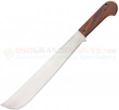 Ontario Bushcraft Machete (16.0 Inch 5160 Carbon Steel Satin Blade) Walnut Wood Handle + Nylon Sheath 8695