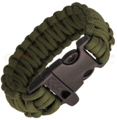 Combat Ready OD Green Paracord Survival Bracelet + Emergency Whistle (Large 9 Inch Wrist Diameter) CBR362