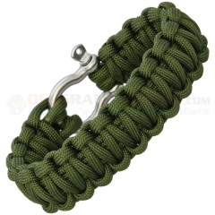 Combat Ready OD Green Paracord Survival Bracelet (9 Inch Length) Metal Buckle CBR364