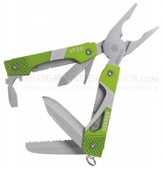 Gerber Vise Pocket Tool Mini Multi-Tool (2.40 Inches Closed Length) Green Aluminum Handle 30-000106