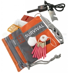 Gerber Bear Grylls Basic Survival Kit (Mini Paraframe Knife + Fire Starter + Waterproof Matches + Fishing Kit + Whistle + More) 31-000700