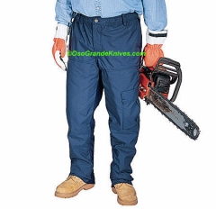 SwedePro 153034 Chainsaw Protective Summer Pants, Navy, Waist 34-36