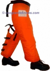 SwedePro 194032 Chainsaw Wrap Chaps, Orange, Length 32