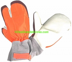 SwedePro 250010 Chainsaw Protective Mitts, Large, Orange