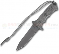 Chris Reeve Green Beret II Fixed (5.5 Inch CPM S35VN Spearpoint Black Combo Blade) Micarta Handle + Tactical Nylon Sheath GB5-1001