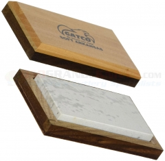 GATCO Natural Soft Arkansas Sharpening Stone (4 x 2 x .50 Inch) Wood Case 80040
