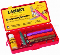 Lansky LK3DM Diamond Standard Sharpening System, Coarse, Medium, Fine