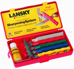 Lansky Professional Sharpening System (5-Stone Precision Knife Sharpening Kit) Coarse, Medium, Fine, Ultra Fine, Fine Serrated Hones LKCPR