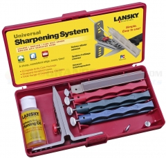 Lansky Universal Controlled-Angle Knife Sharpening System (Includes Medium Serrated + Coarse + Medium + Fine Hones) LKUNV