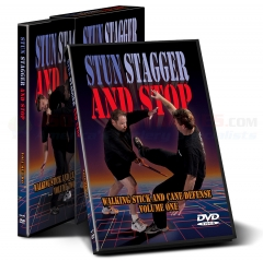 Cold Steel Stun, Stagger and Stop Training Instructional Two DVD Set (Walking Stick and Cane Self Defense) VDSC