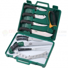 Outdoor Edge Game Processor (12-Piece Portable Butchering Kit) Hard Plastic Carry Case OEPR1