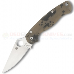 Spyderco C81GPCMO2 Para-Military 2 Camo Folding Knife (3.44 Inch CPM-S30V Satin Plain Blade) Digital Camo G10 Handle
