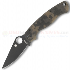 Spyderco C81GPCMOBK2 Para-Military 2 Camo Folding Knife (3.44 Inch CPM-S30V Black Plain Blade) Digital Camo G10 Handle