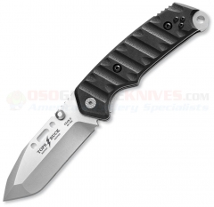 Buck Knives TOPS/Buck CSAR-T Pro Liner Lock Folding Tactical Knife (3.5 Inch 154CM Bead Blast Tanto Plain Blade) Black G10 Handle 0095BKSTP