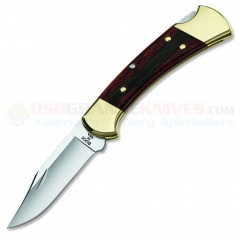 Buck 0112BRS Ranger, Hardwood Handle, Black Leather Sheath