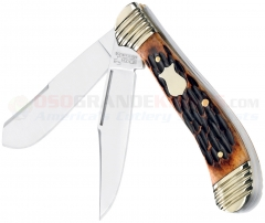 Boker Plus 01BO202 Fat Belly Trapper Knife, Brown Bone