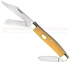 Boker Plus 01BO234Y Vintage Mini Trapper, Yellow Synthetic Handle