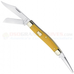 Boker Plus 01BO3380Y Vintage Stockman, Yellow Synthetic Handle