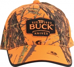 Buck 89054 Mossy Oak Blaze Orange Camo Buck Logo Cap