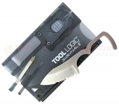 Tool Logic SVC2 Survival Card w/ Fire Starter/Light, Charcoal