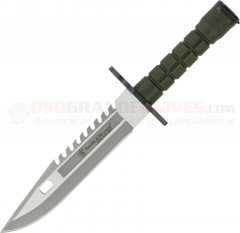 Smith & Wesson Special Ops M-9 Bayonet Fixed (7.80 Inch Sawback Satin Plain Blade) Green Nylon Fiber Handle | Nylon Sheath SW3G