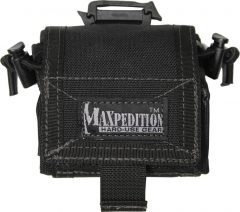 MaxPedition 208B Rollypoly Dump Pouch, Black