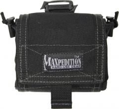 MaxPedition 209B Mega Rollypoly Large Folding Utility Pouch, Black