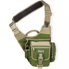 MaxPedition 408GK S-Type FatBoy Versipack, Left Handed Version for Weak Side Carry, Green/Khaki