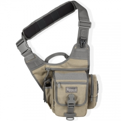MaxPedition 408KF S-Type FatBoy Versipack, Left Handed Version for Weak Side Carry, Khaki/Foliage Green