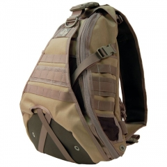MaxPedition 410KF Monsoon GearSlinger, Khaki/Foliage Green