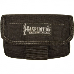MaxPedition Volta Battery Pouch/Shotgun Shell Carrier (Black) Holds CR123, AA, or AAA Batteries1809B