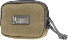 MaxPedition 3526KF Hook And Loop Zipper Pocket 3x5, Khaki-Foliage
