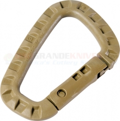 MaxPedition Tac-Link Lightweight Carabiner (Desert Tan GhillieTEX High Strength Polymer) ITW42O