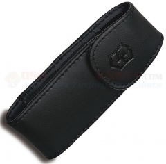 Victorinox Swiss Army Large Expandable Leather Clip Belt Pouch (3.75 x 1.5 x .75 in.) Fits 3.5 Inch Closed Knives w/ Wide Width 33256