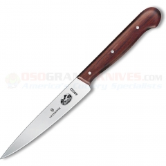 Victorinox 40002 Kitchen Utility Knife (4.75 Inch Pointed Tip Blade) Rosewood Handle