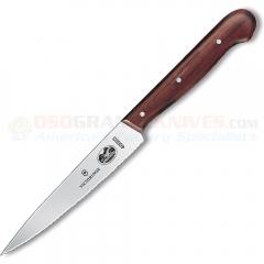 Victorinox 40003 Kitchen Utility Knife (4.75 Inch Stainless Wavy Blade) Rosewood Handle