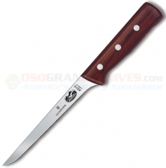 Victorinox 40015 Boning Knife (6 Inch Straight Narrow Flexible Blade) Rosewood Handle