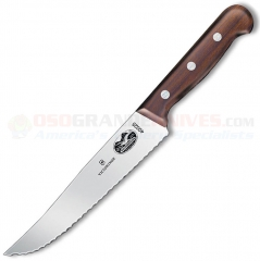 Victorinox 40025 Chefs Utility Knife (7 Inch Wavy Edge Blade) Rosewood Handle