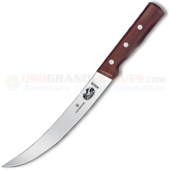 Victorinox 40039 Butcher Knife (8.0 Inch Breaking Curved High Carbon Stainless Blade) Rosewood Handle