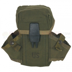 GI M-16 Pouch, Used, Olive Drab Nylon, 30 Round Pouch, 2 Grenade Pockets, 2 Metal Belt Keepers