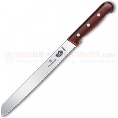 Victorinox 40049 Bread Knife (8 Inch Slant Tip Wavy Edge High Carbon Stainless Blade) Rosewood Handle