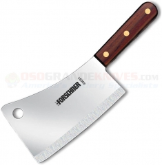 Victorinox 40091 Cleaver 1 Pound (7x3 Inch Curved Straight Edge High Carbon Stainless Blade) Walnut Handle