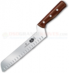 Victorinox 40191 Butter and Cheese Knife (8 Inch Granton Edge Offset High Carbon Stainless Blade) Rosewood Handle