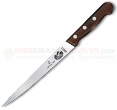 Victorinox 40311 Fillet Knife (7 Inch Straight Flexible High Carbon Stainless Blade) Rosewood Handle