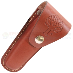 Boker 090034 Leather Sheath for Large Lockblade/Optima (Fits Most Large Classic Style Pocket Knives up to 4 Inch Blade)
