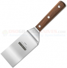 Victorinox 40404 Turner Spatula (3x5 Inch Square End Flexible High Carbon Stainless Steel Turner) Walnut Wood Handle