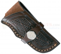 Boker Genuine Leather Knife Holster Style Sheath for Large Pocket Knives such as Trappers or Stockmans 090035