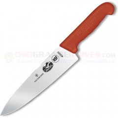 Victorinox Forschner 40421 Chefs Knife, Red Handle, 8 Inch Blade